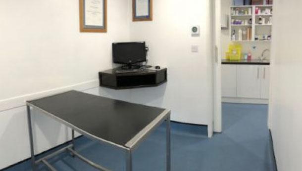 Exotics consult room