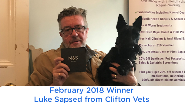 Luke Sapsed - Clifton Vets - February 2018