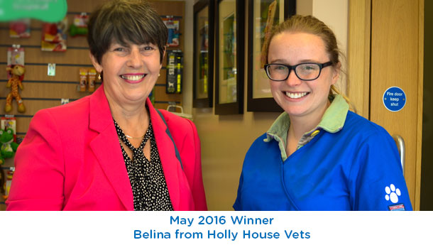Belina - Holly House Vets - May 2016