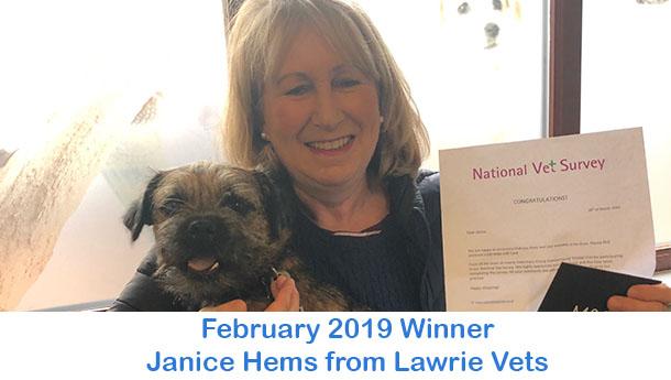 Janice Hems - Lawrie Vets - February 2019