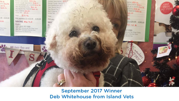Deb Whitehouse - Island Vets - September 2017