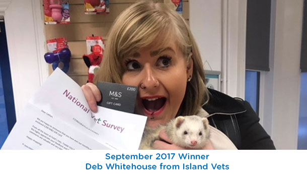 Deb Whitehouse (ferret) - Island Vets - September 2017