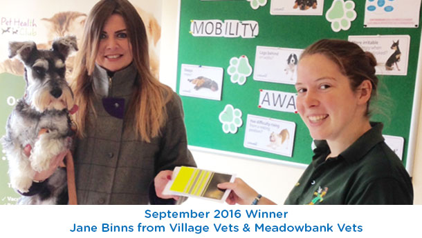 Jane Binns - Village Vets - September 2016